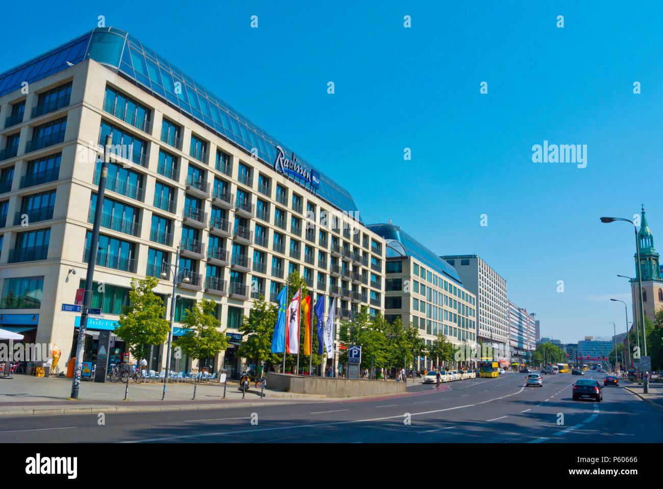 Karl-Liebknecht-Strasse, Alexanderplatz, Mitte, Berlin, Germany - Stock Image