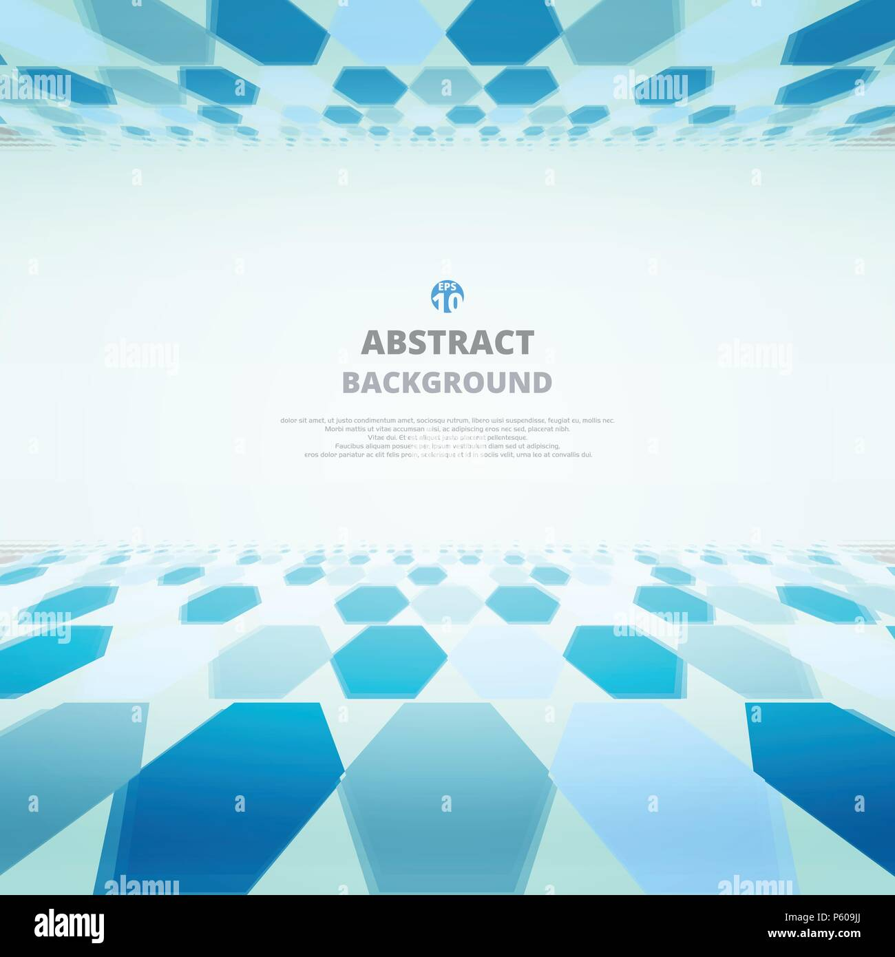 Art of blue molecules abstract background for business presentation. Illustration eps10 - Stock Image