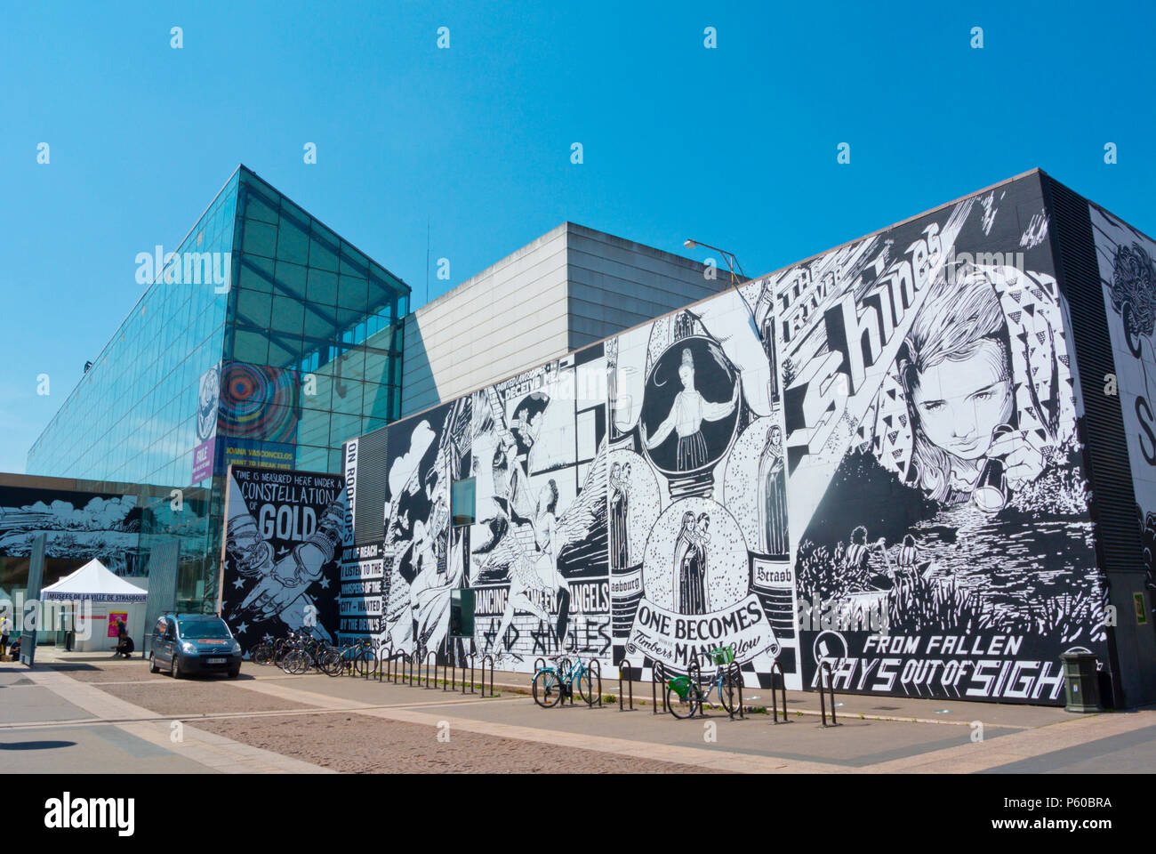 Musee d'Art Moderne et Contemporain, MAMCS, museum of modern and contemporary art, Strasbourg, Alsace, France Stock Photo