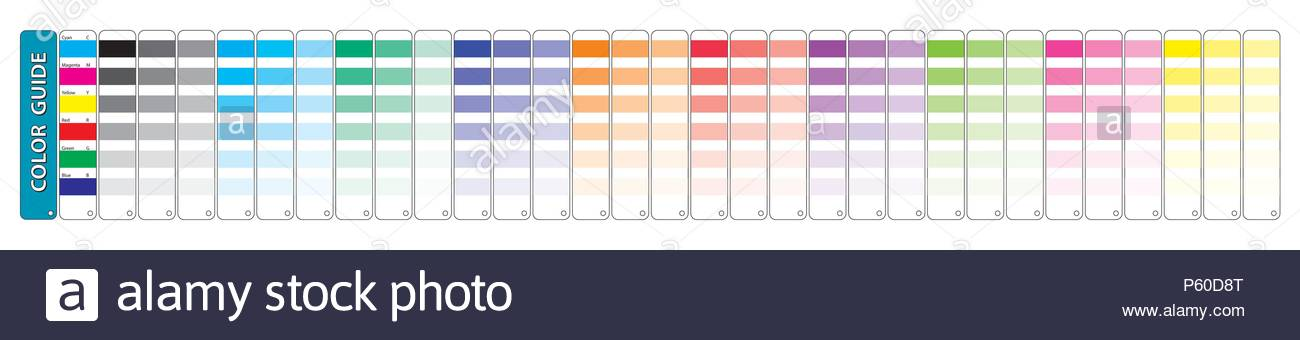 cmyk color chart to use in prepress and printing. Used to pick color ...