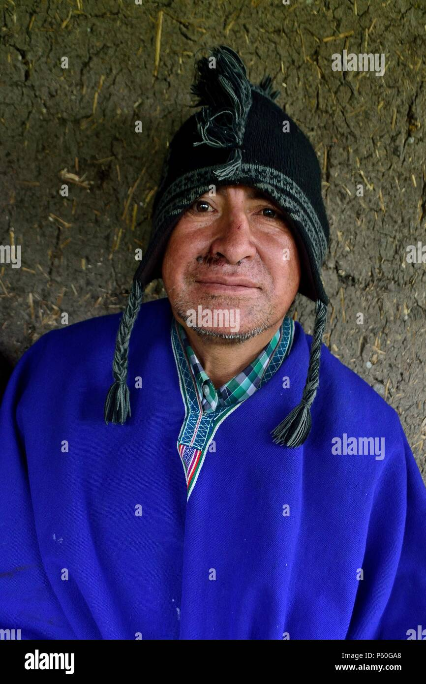 Farmer in CAJAS CANCHAQUE ' Las Huaringas '  - HUANCABAMBA.. Department  of Piura .PERU       											  					  			 	  	  			 	    	 - Stock Image