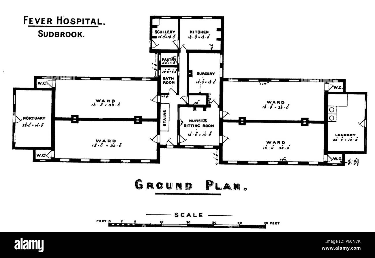 555 Fever Hospital, Sudbrook (Walker 1888) Stock Photo