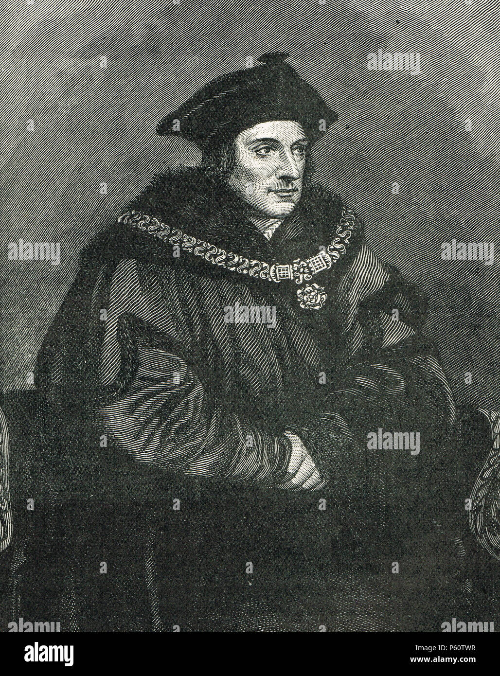 Sir Thomas More,  Lord High Chancellor of England, councillor to Henry VIII - Stock Image