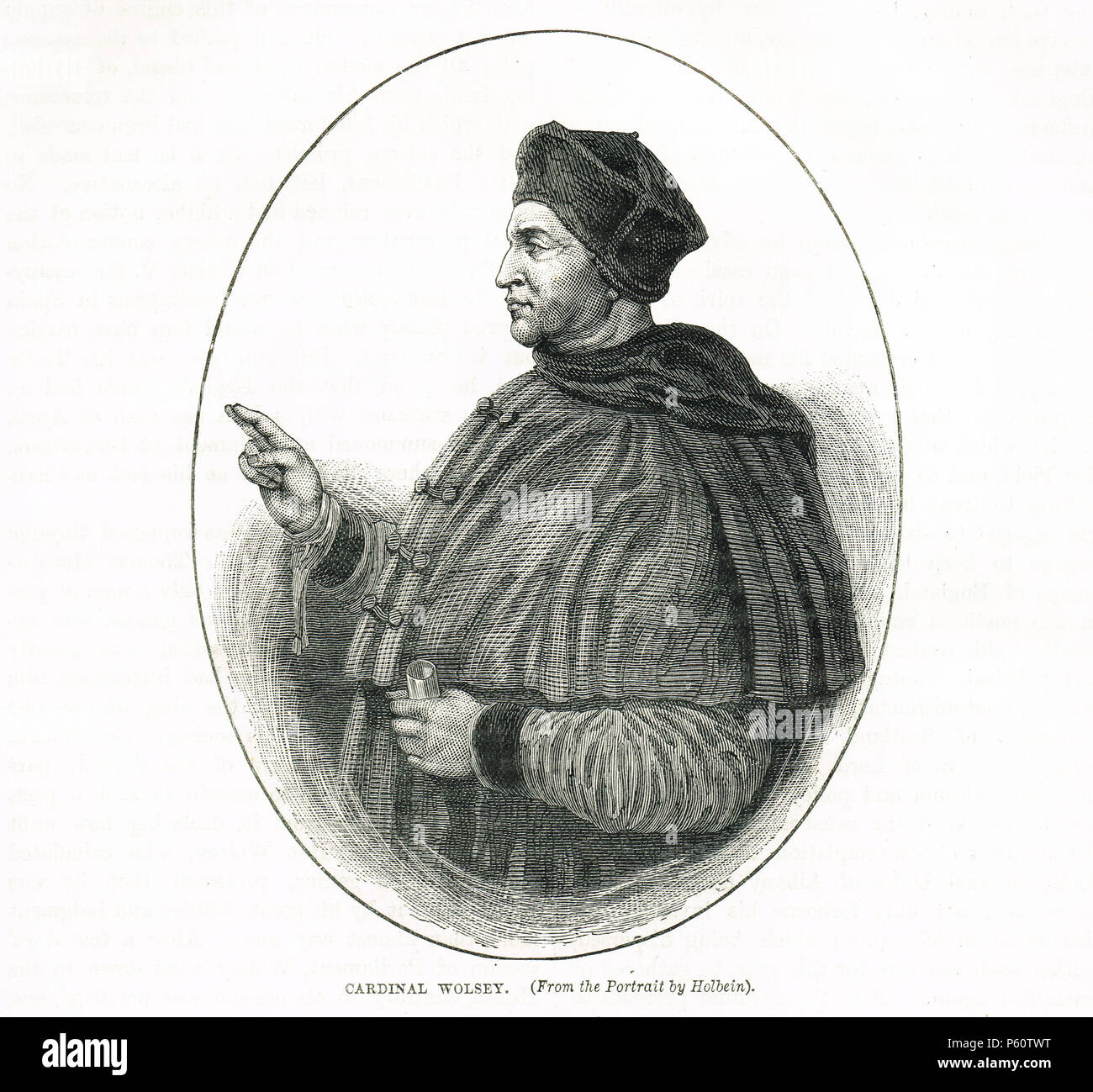 Cardinal Thomas Wolsey, after Holbein - Stock Image