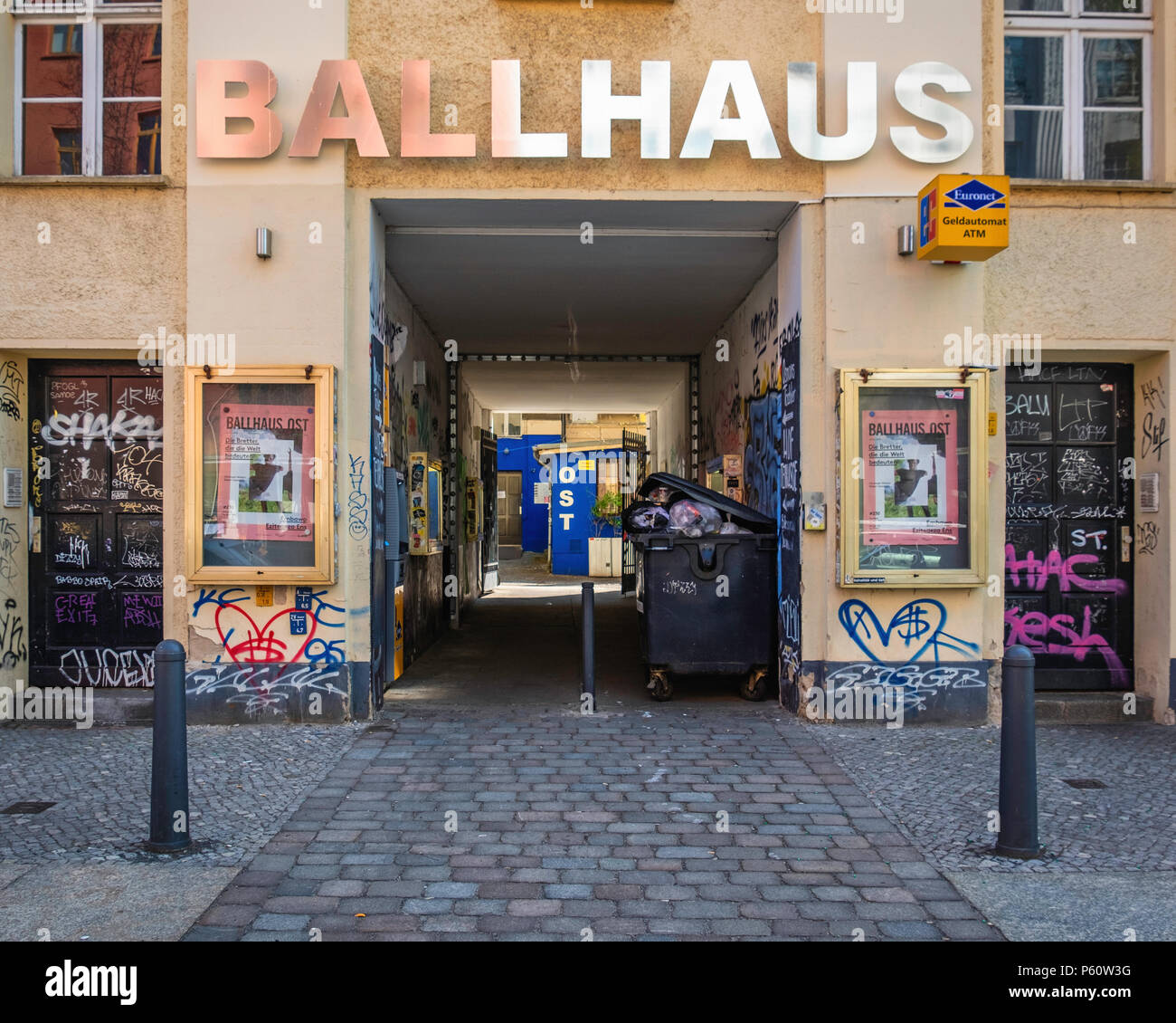Berlin Prenzlauer Berg,Ballhaus Ost venue for entertainment, theatre & art projects,displays,exhibitions - Stock Image