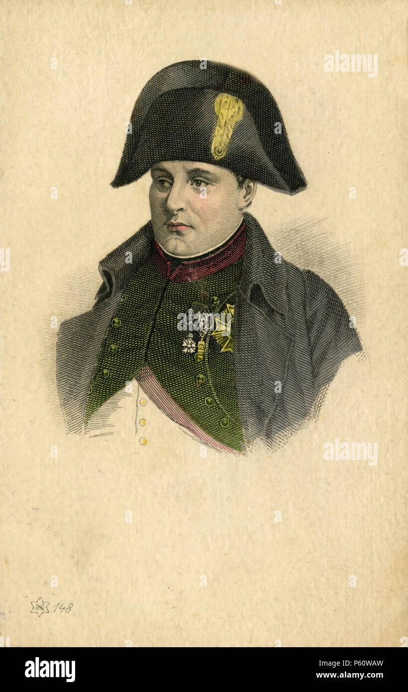 Napoleon Bonaparte: portrait, - Stock Image