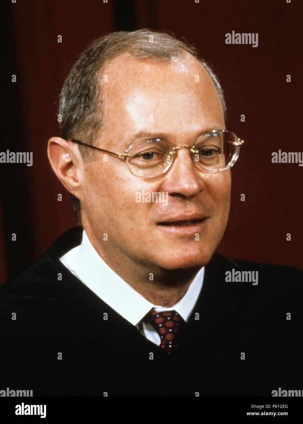 Associate Justice of the United States Supreme Court Anthony M. Kennedy poses for a photo during a photo-op at the U.S. Supreme Court in Washington, DC on Tuesday, September 11, 1990. Kennedy was appointed by U.S. President Ronald Reagan in 1998.Credit: Robert Trippett/Pool via CNP/ MediaPunch Stock Photo