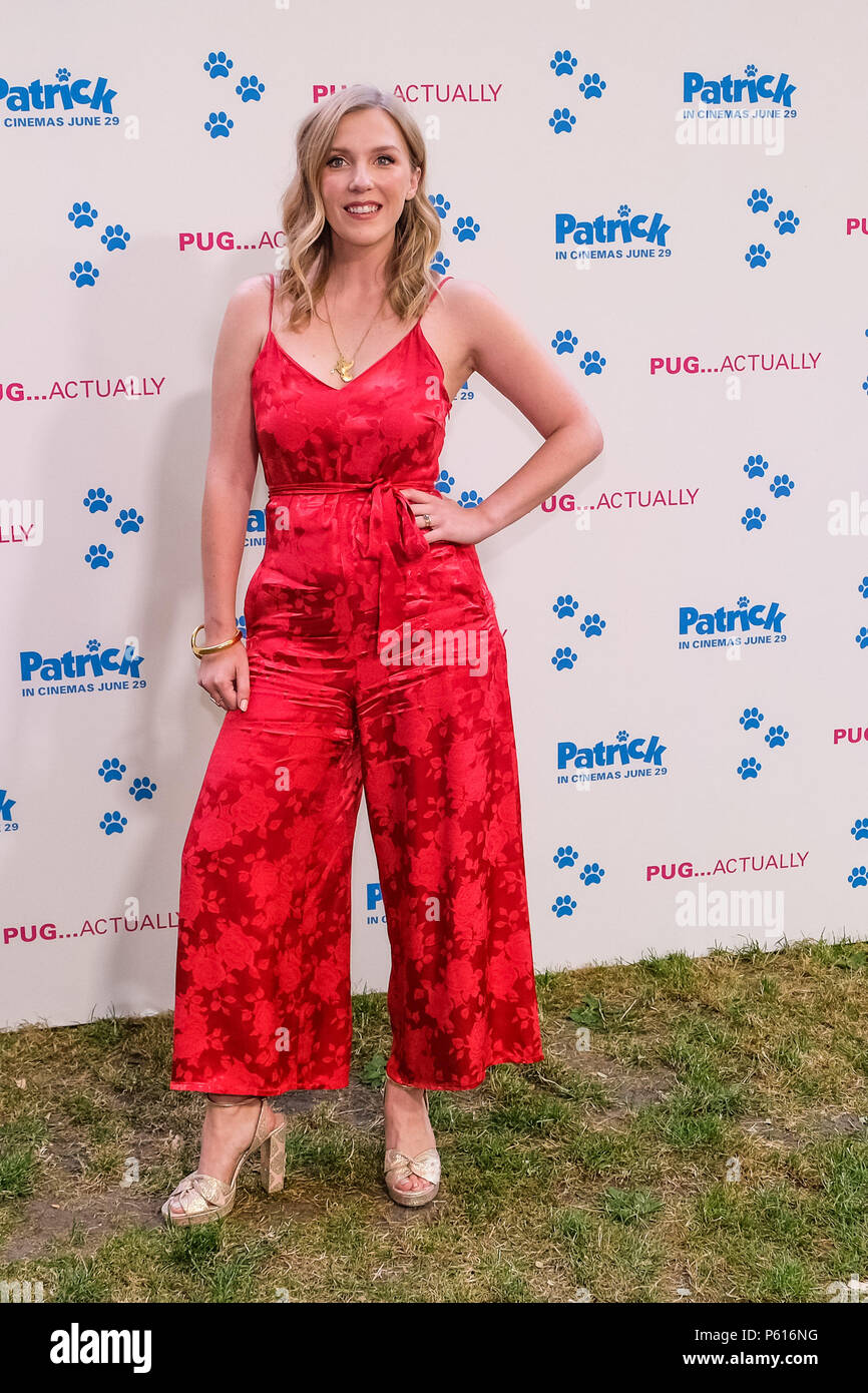 London, UK. 27th Jun, 2018. Beattie Edmondson at UK Premiere of Patrick on Wednesday 27 June 2018 held at an exclusive private London garden, London. Pictured: Beattie Edmondson. Credit: Julie Edwards/Alamy Live News - Stock Image