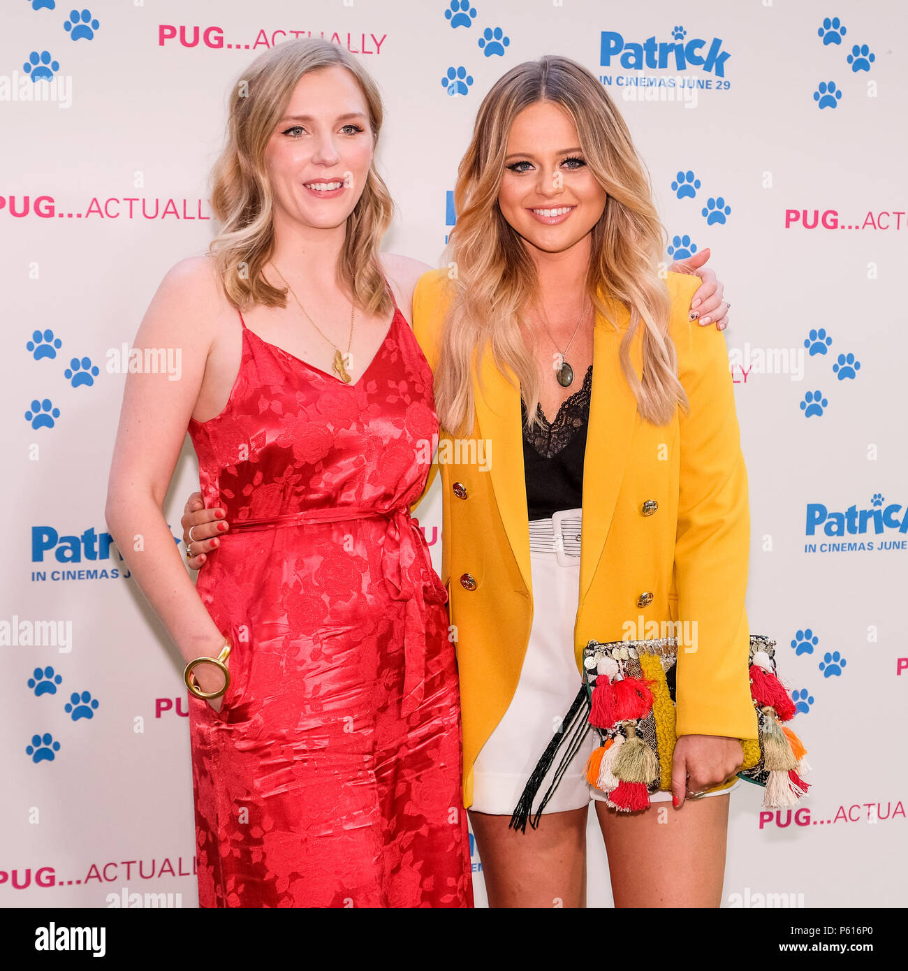 London, UK. 27th Jun, 2018. Beattie Edmondson and Emily Atack at UK Premiere of Patrick on Wednesday 27 June 2018 held at an exclusive private London garden, London. Pictured: Emily Atack, Beattie Edmondson. Credit: Julie Edwards/Alamy Live News - Stock Image