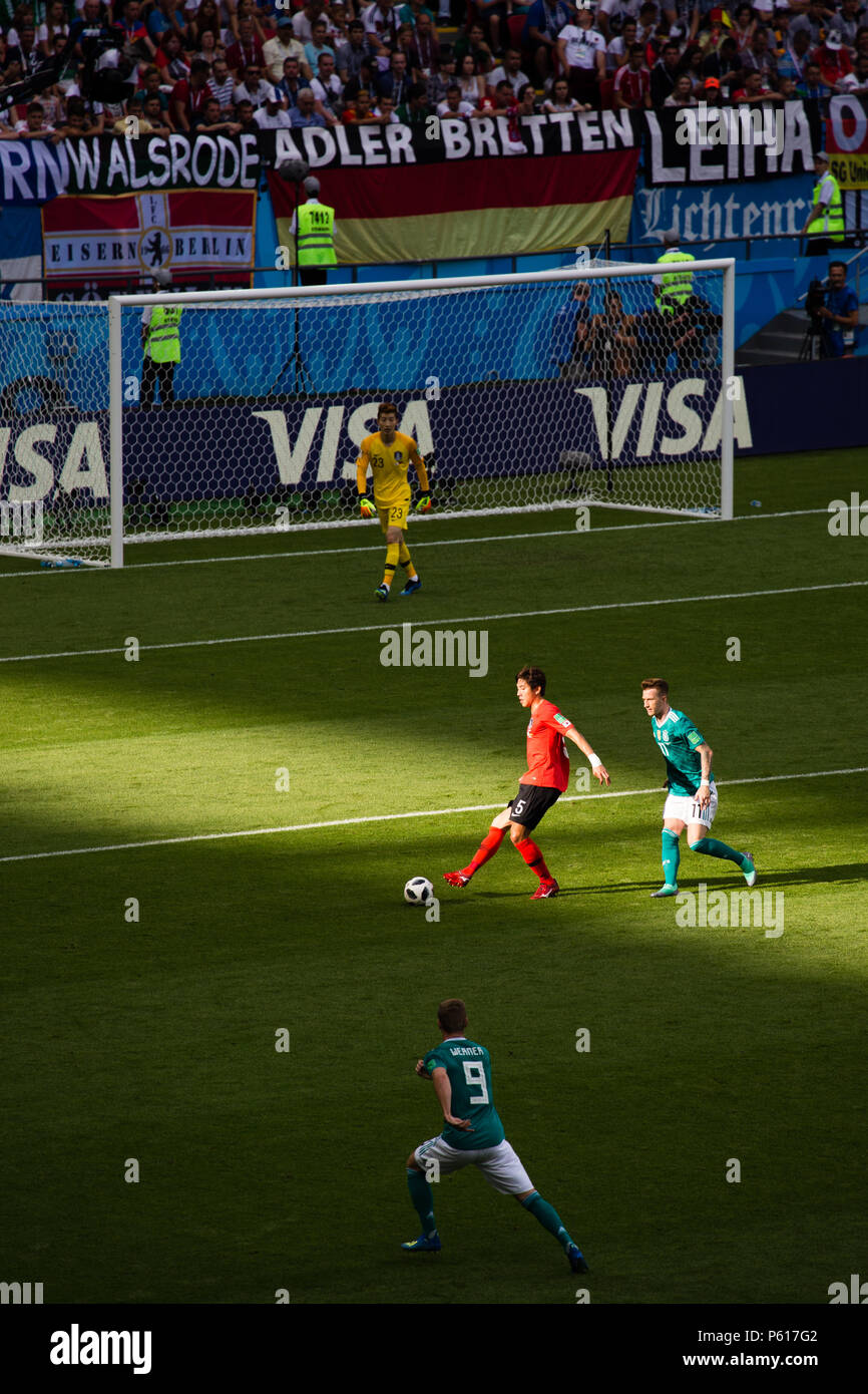 8b2917876 National football team of Korea Republic defeats Germany at the World Cup  Russia 2018 in Kazan