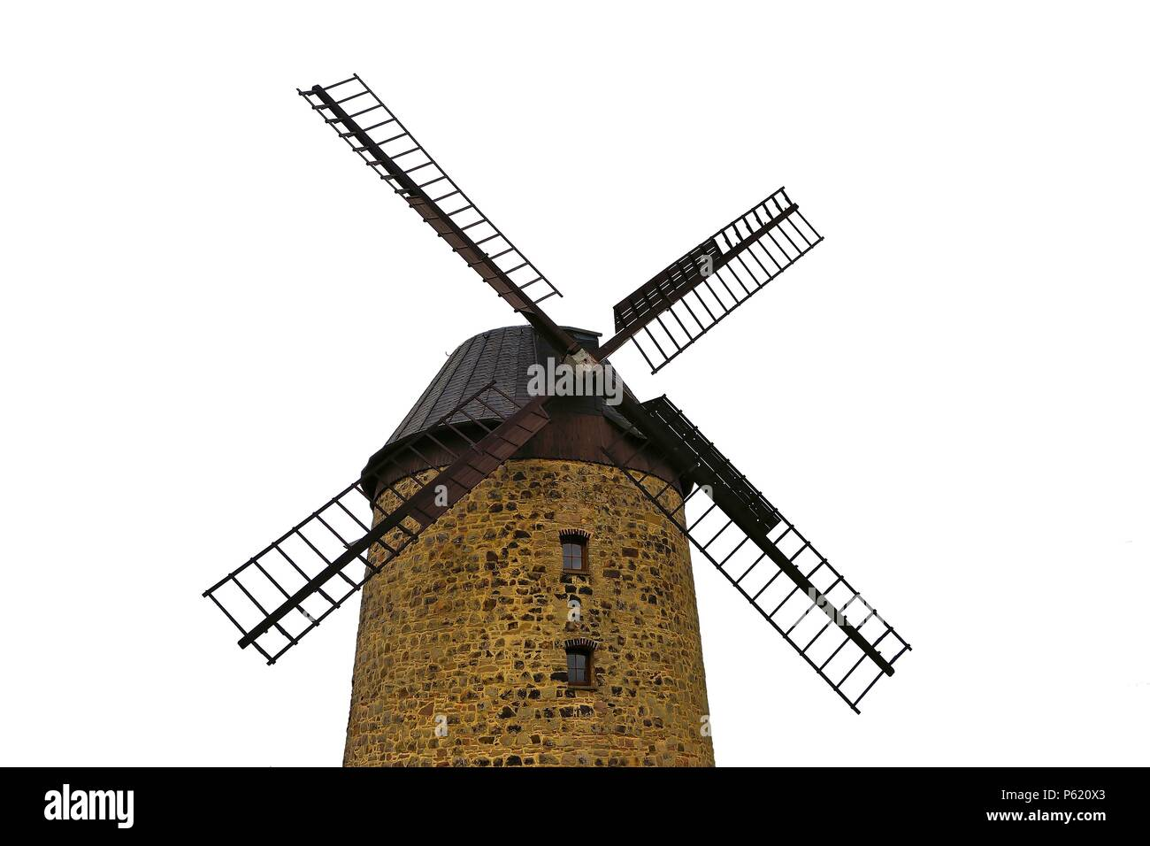 Windmill in Warnstedt in Germany - Stock Image