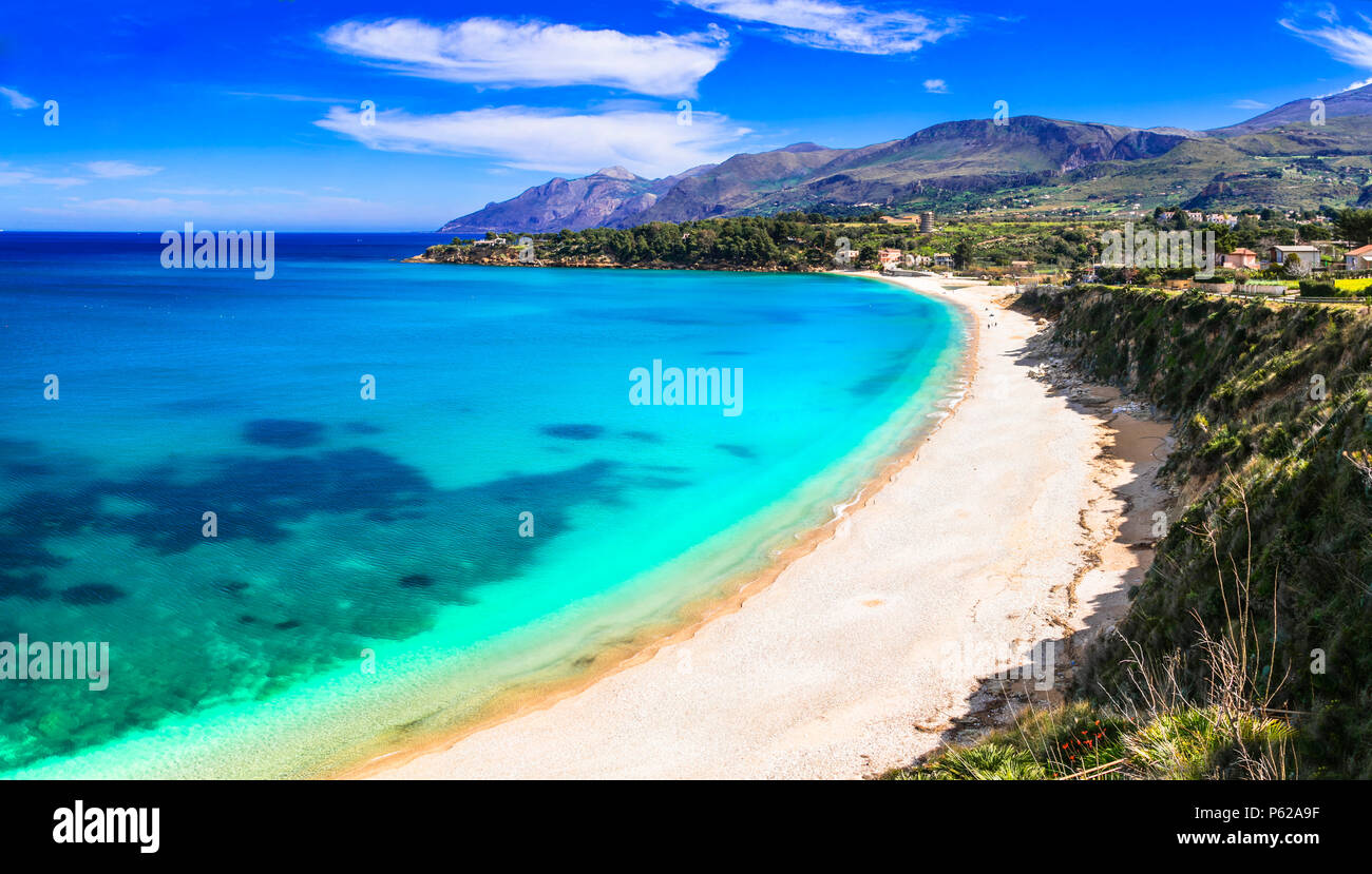 Beautiful Scopello beach,Sicily,italy. - Stock Image
