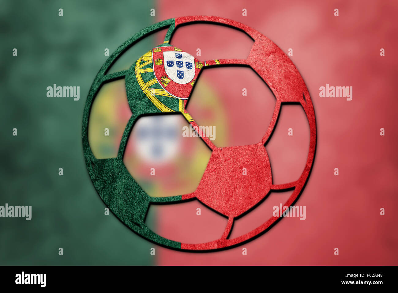 Football Flag Portugal High Resolution Stock Photography And Images Alamy