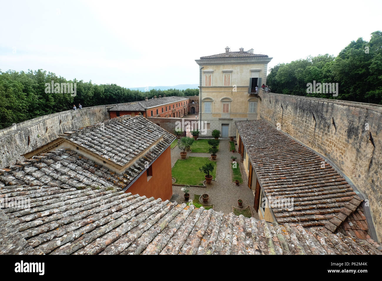 The castle of Belcaro,Siena,Italy - Stock Image
