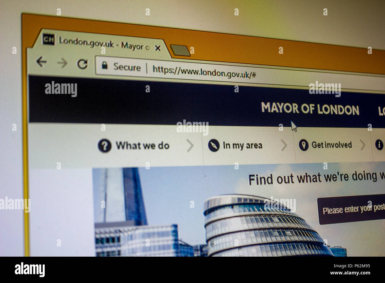 Official Website - Mayor of London - Stock Image