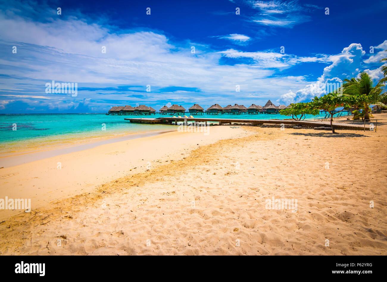 Moorea beach vacation - Stock Image