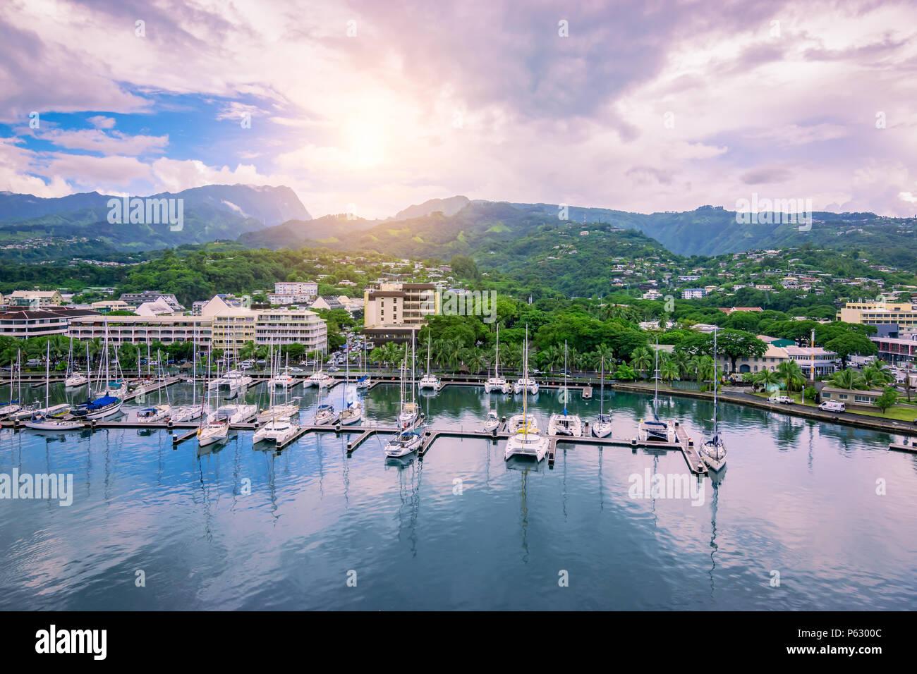 Papeete, Tahiti, French Polynesia - Stock Image