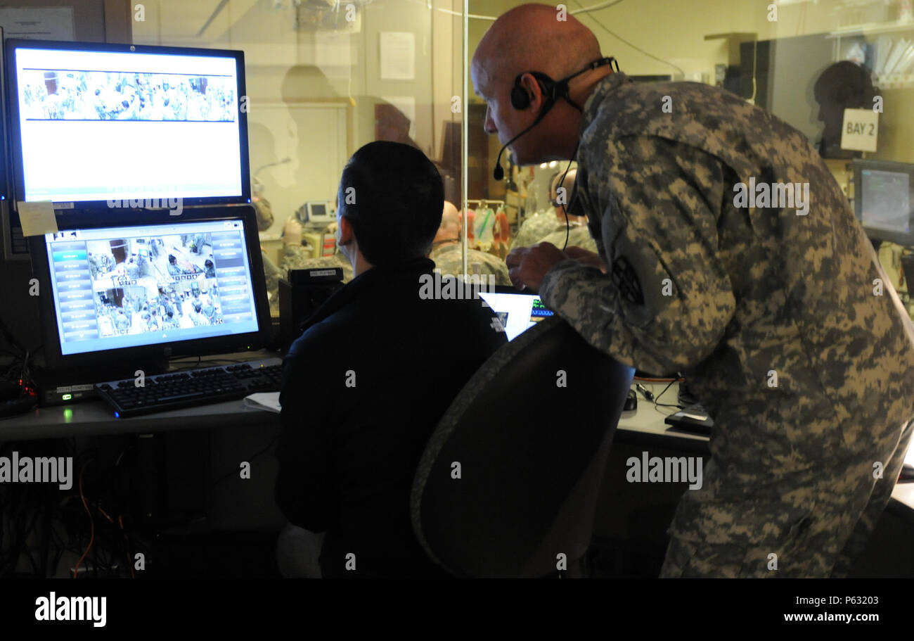 Both With The 399th Combat Support Hospital Stock Photos