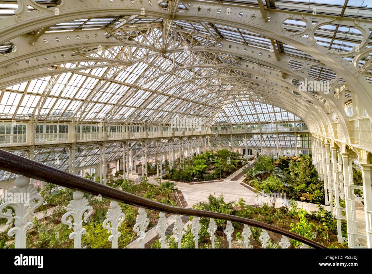 After a 5 year restoration, the newly restored Temperate House at The Royal Botanic Gardens, Kew in London has reopened to visitors . - Stock Image