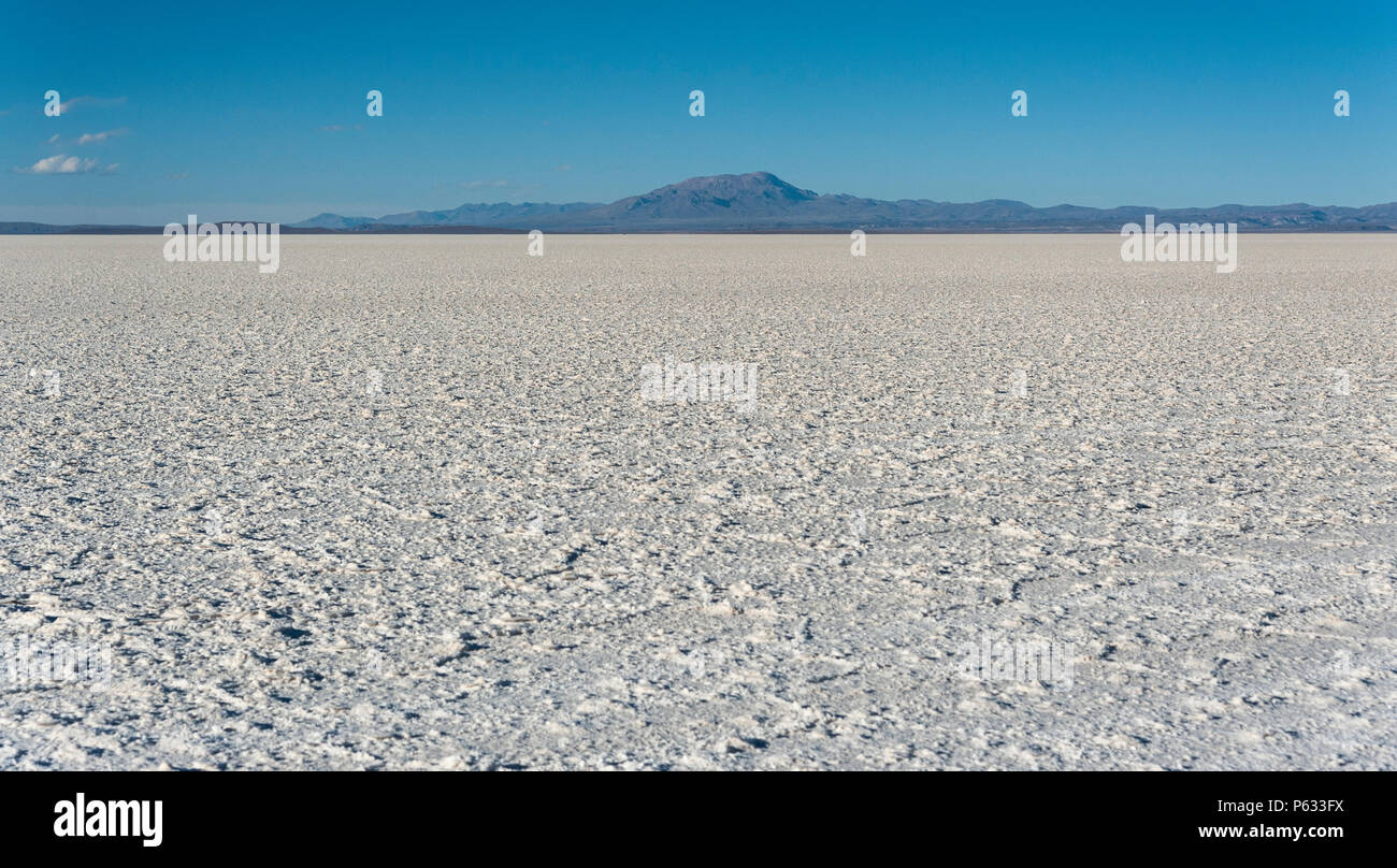 Salar de Uyuni is largest salt flat in the World UNESCO World Heritage Site - Altiplano, Bolivia, South America - Stock Image