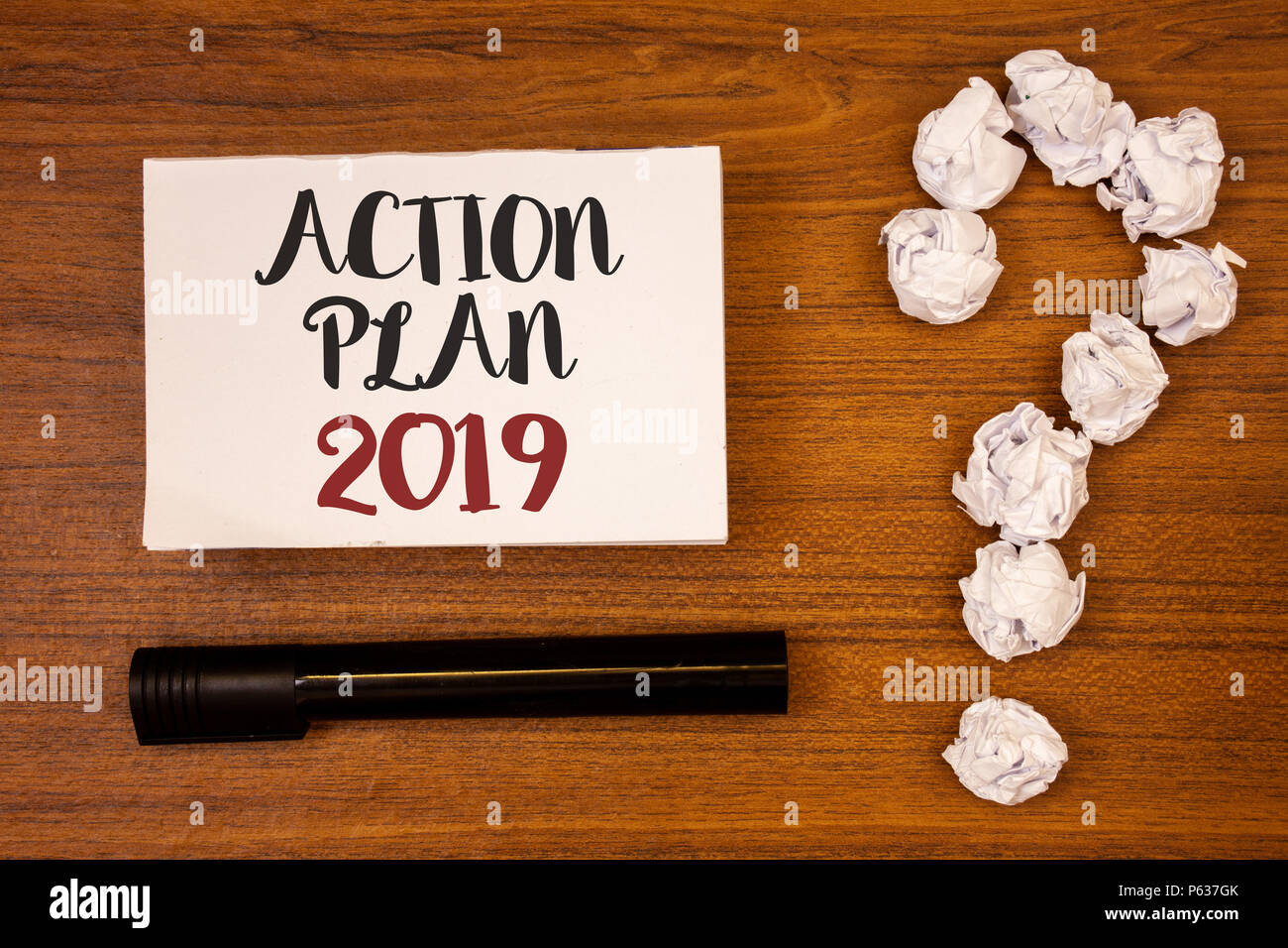 Text Sign Showing Action Plan 2019 Conceptual Photo Challenge Ideas