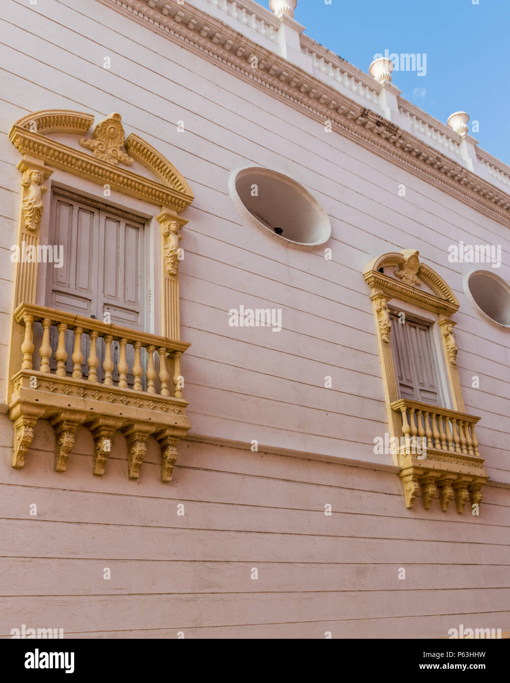 A typical view in Cartagena colombia - Stock Image