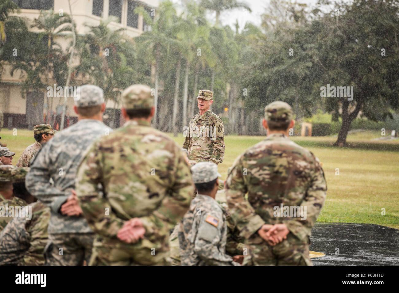 Command Sgt  Maj  Scott A  Brzak 25th Infantry Division