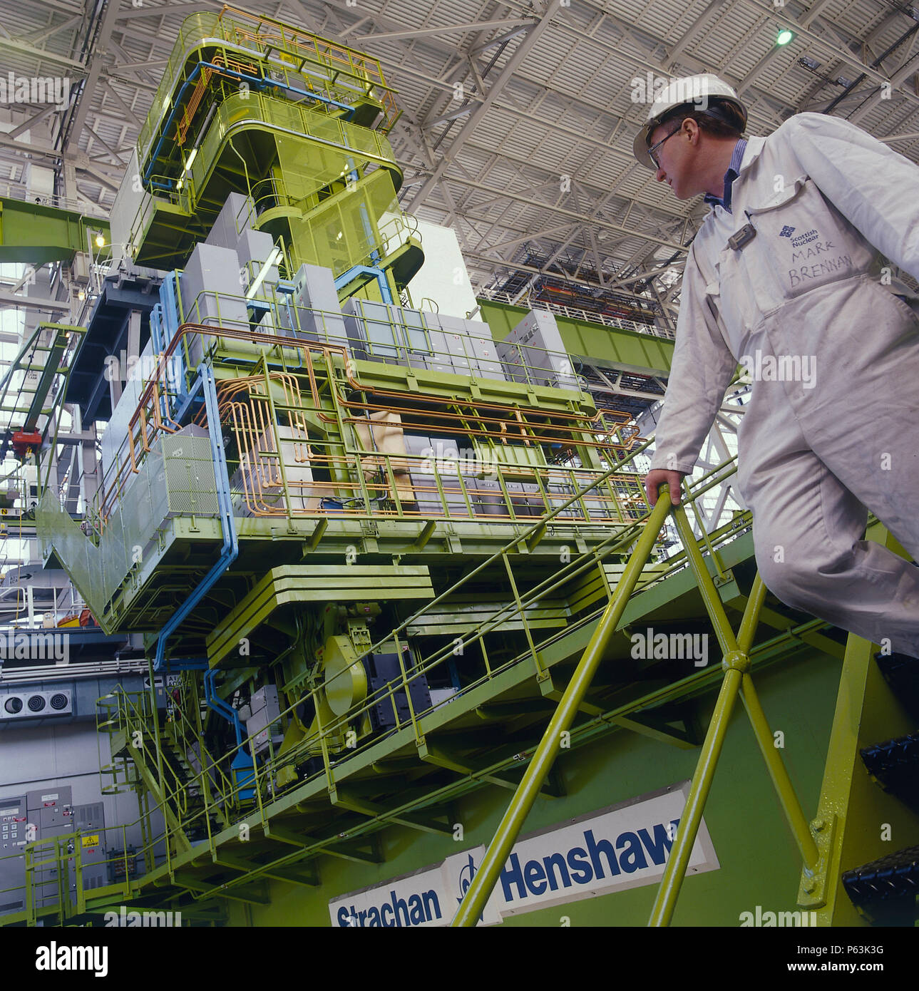 Worker inside a nuclear power plant Stock Photo: 210293204 ...