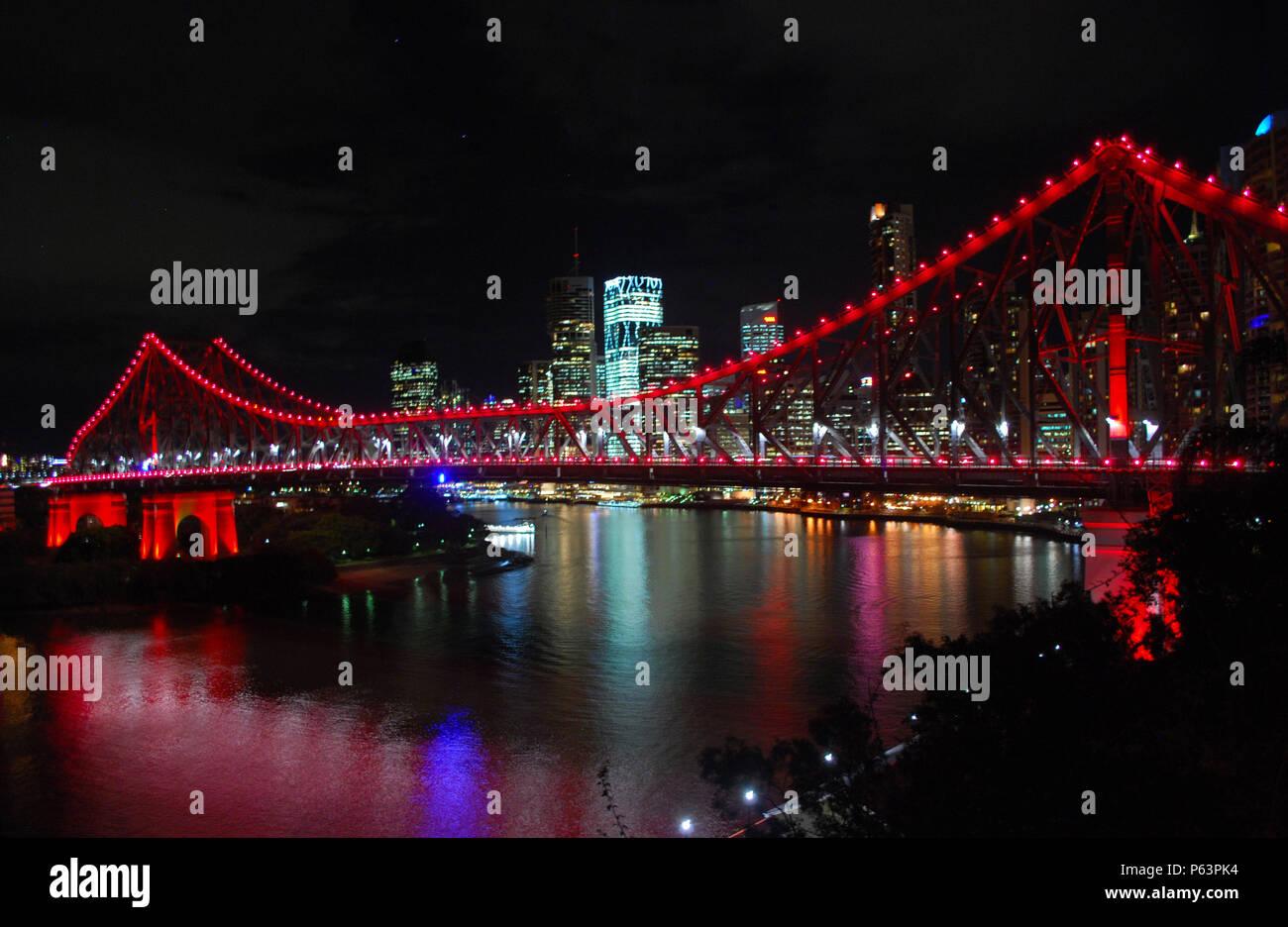 Story Bridge in Brisbane - Stock Image