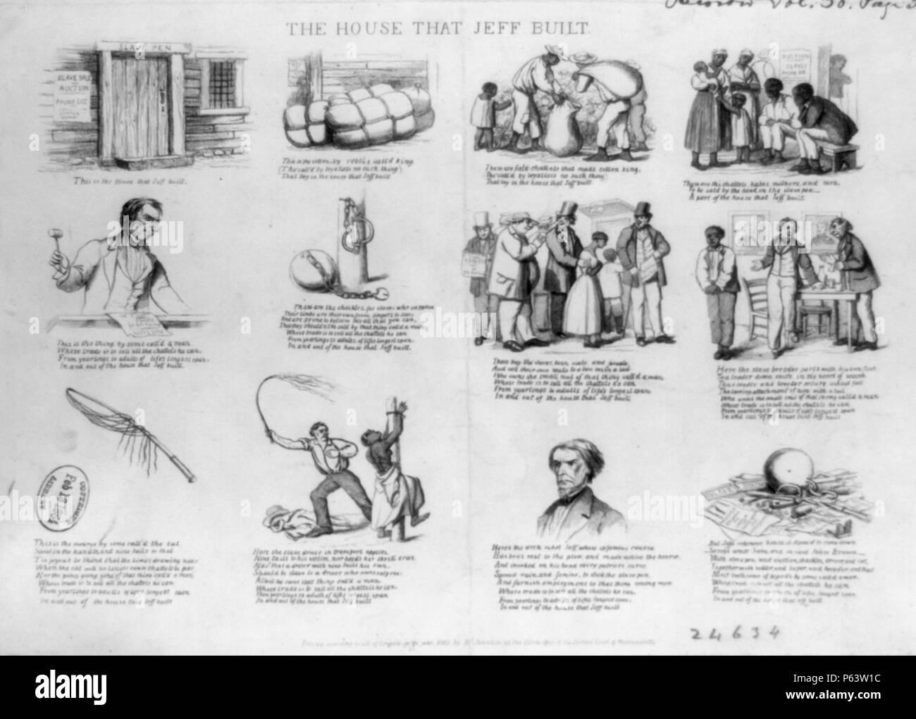 1863 HouseThatJeffBuilt byDClaypooleJohnston LibraryOfCongress. - Stock Image