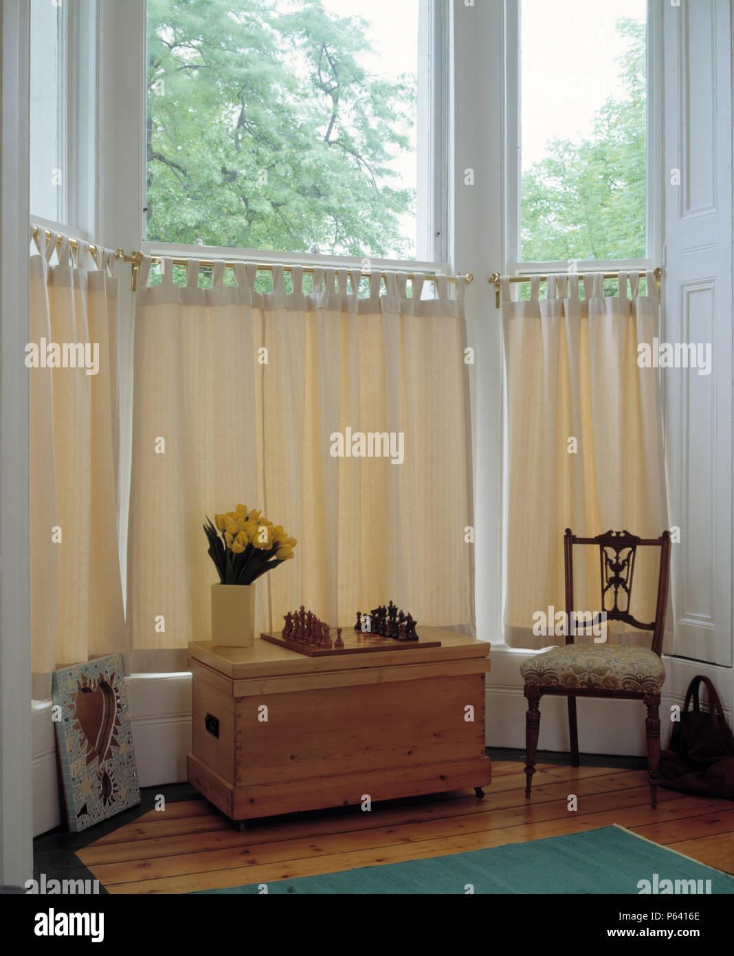 Bay Window Curtains Stock Photos Amp Bay Window Curtains