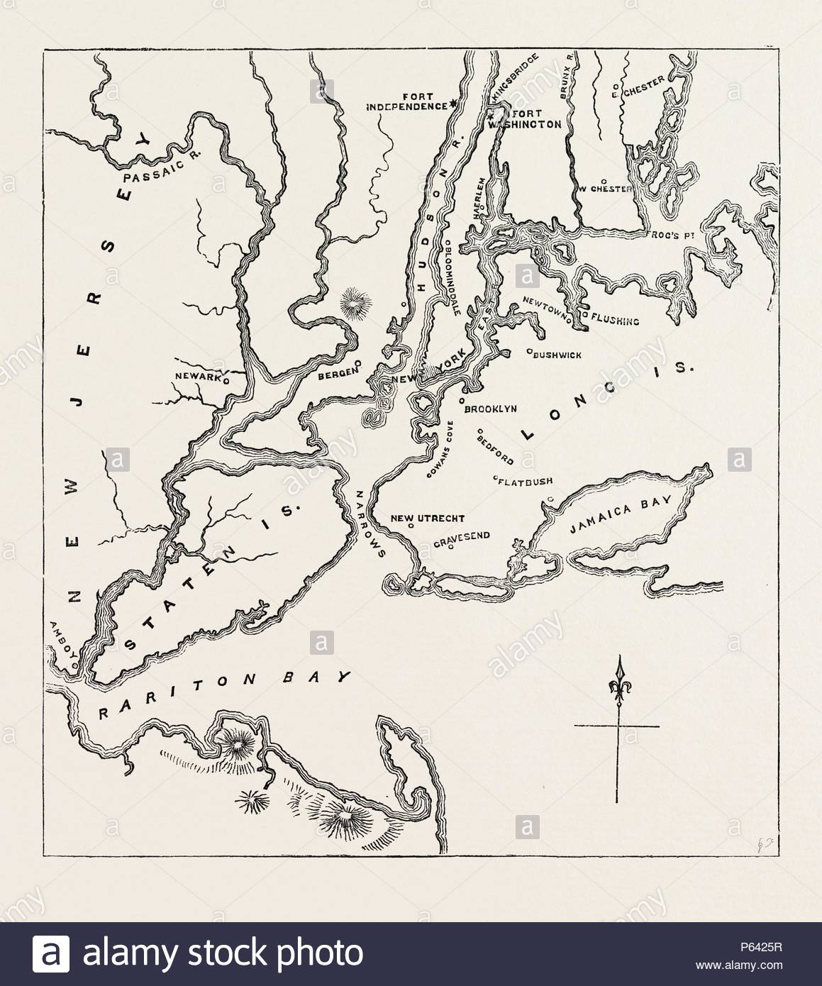 Map Of New York And Vicinity 1776 United States Of America Us