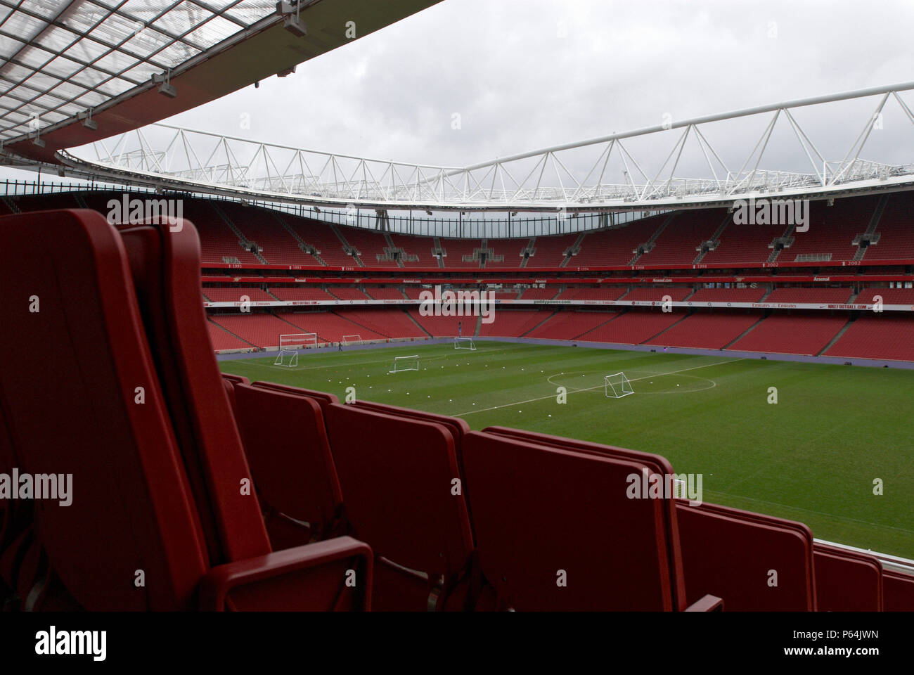 The Emirates Stadium in Ashburton Grove, north London, is the home of Arsenal Football Club. The stadium opened in July 2006, and has an all-seated ca - Stock Image