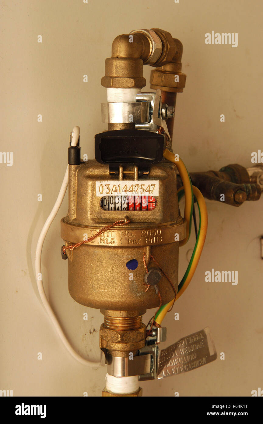 Inside A Gas Meter : Gas meter cupboard stock photos