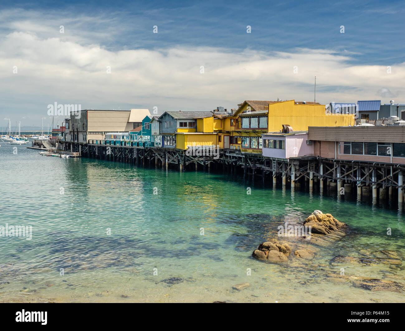 Old Fisherman's Wharf on the California Coastal Recreational Trail, Monterey, California, USA. Stock Photo