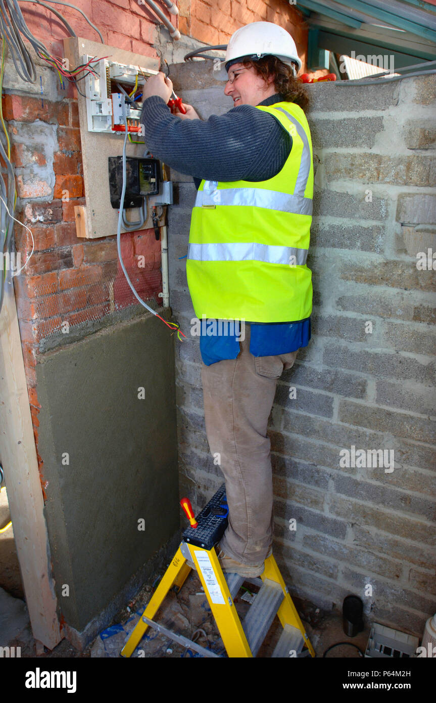 An Electrician Removes Old Electricity Fuse Boxes And Installs A Consumer Unit Box Memera Uk