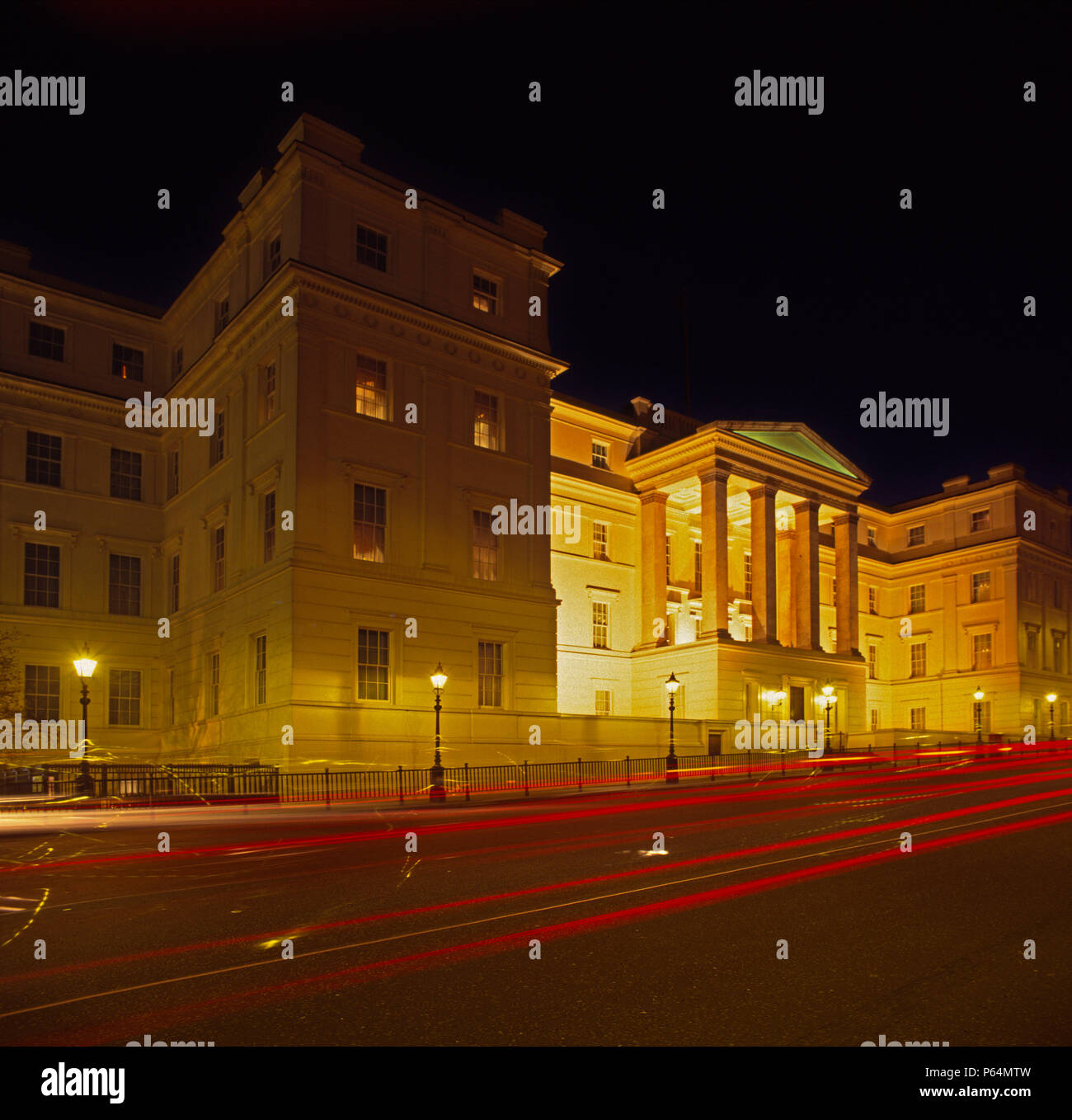 Lanesborough Hotel, London at dusk, UK - Stock Image