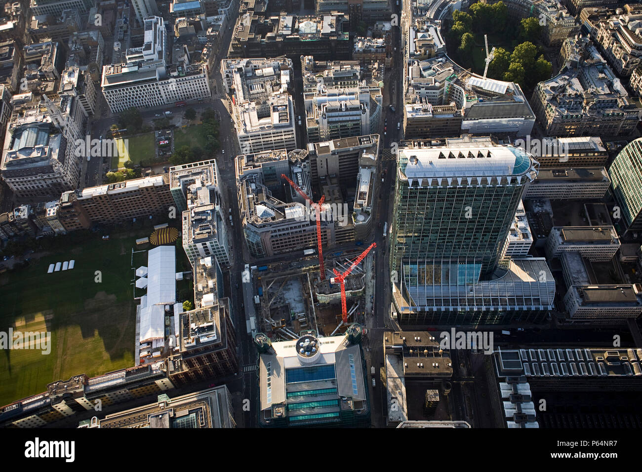 Aerial view of Citypoint & Ropemaker Place, London - Stock Image
