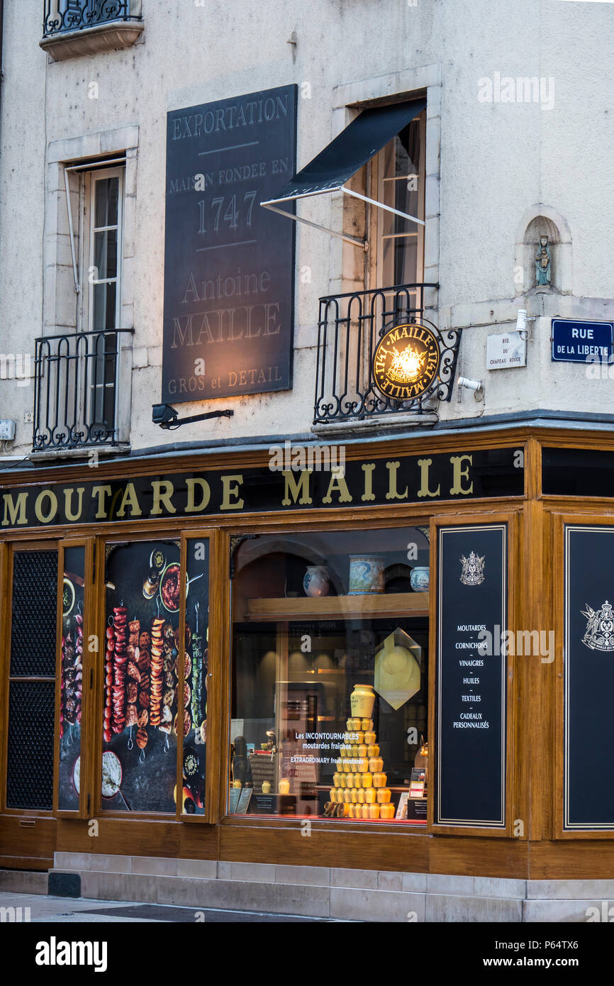 Moutarde Maille shop Dijon Cote-d'Or  Bourgogne-Franche-Comte France Stock Photo