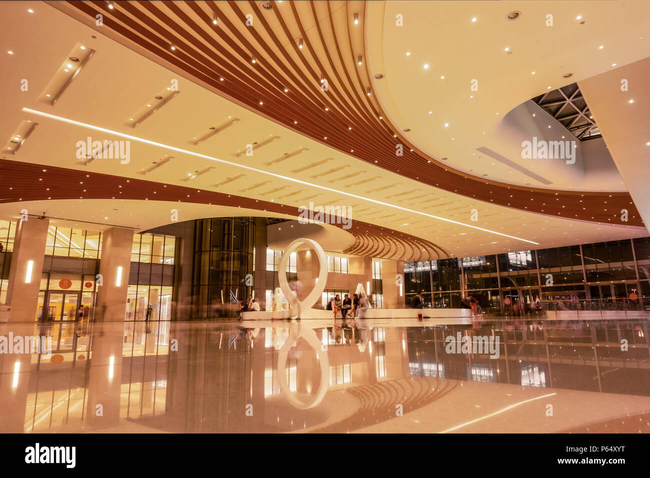The design of the Shopping Mall and Inner Space - Stock Image