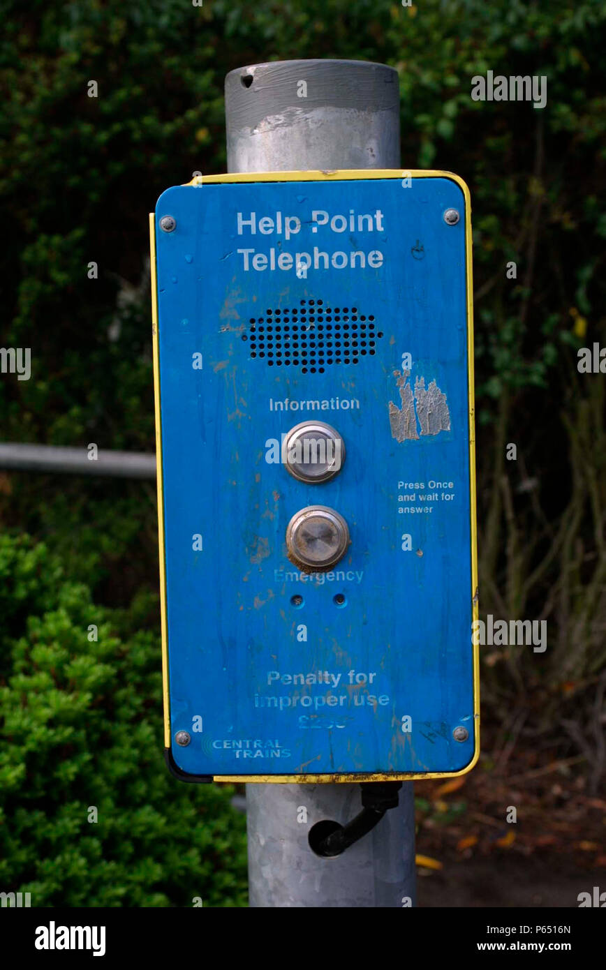 A help point communication device. 2003. UK. - Stock Image