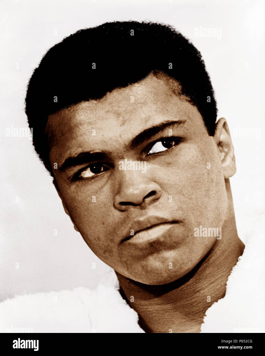 Muhammad Ali (born Cassius Clay, Jr.; January 17, 1942) American former professional boxer, considered among the greatest heavyweights in the sport's history. Stock Photo