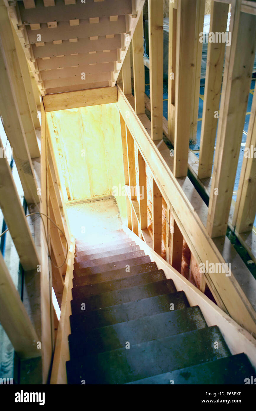 Staircase Frame, House Building Stock Photo: 210331486   Alamy