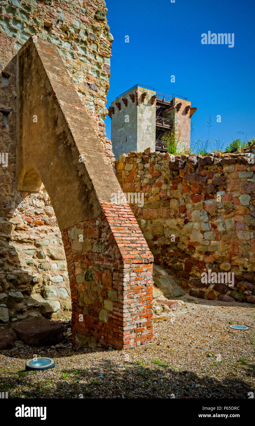 Italy Sardinia Bosa  castle of the Serravalle or Malaspina - Stock Image
