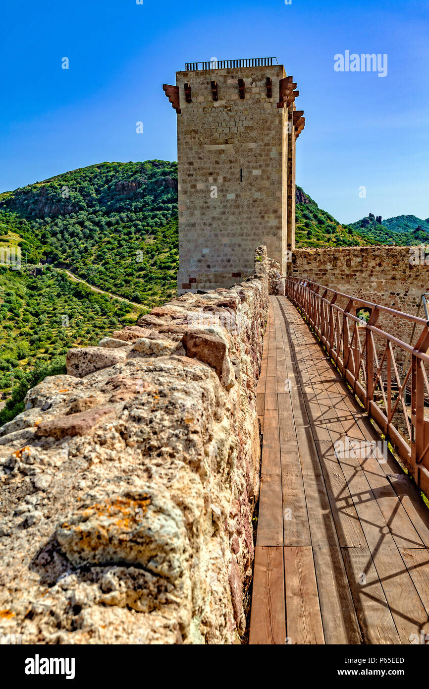 Italy Sardinia Bosa,castle of the Serravalle or Malaspina - Stock Image