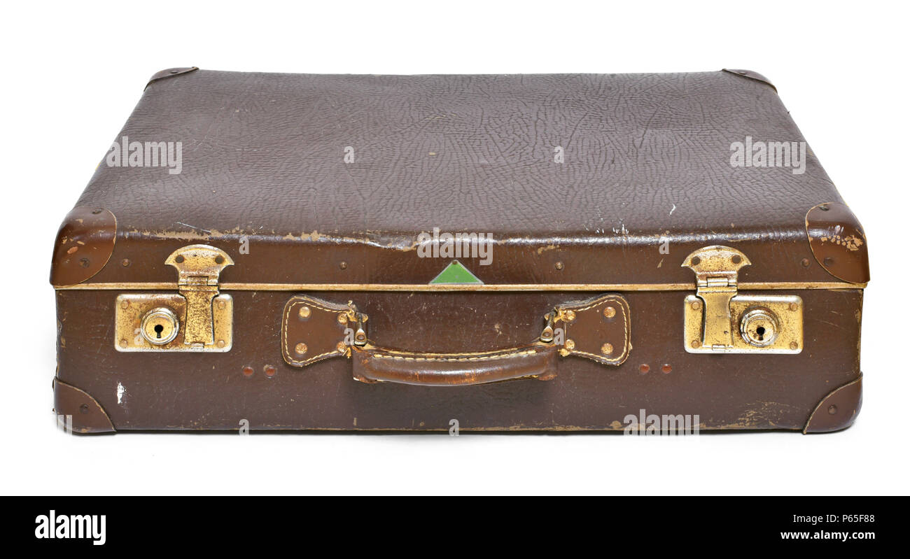 old suitcase travel item luggage or baggage vintage suitcase retro leather suitcase