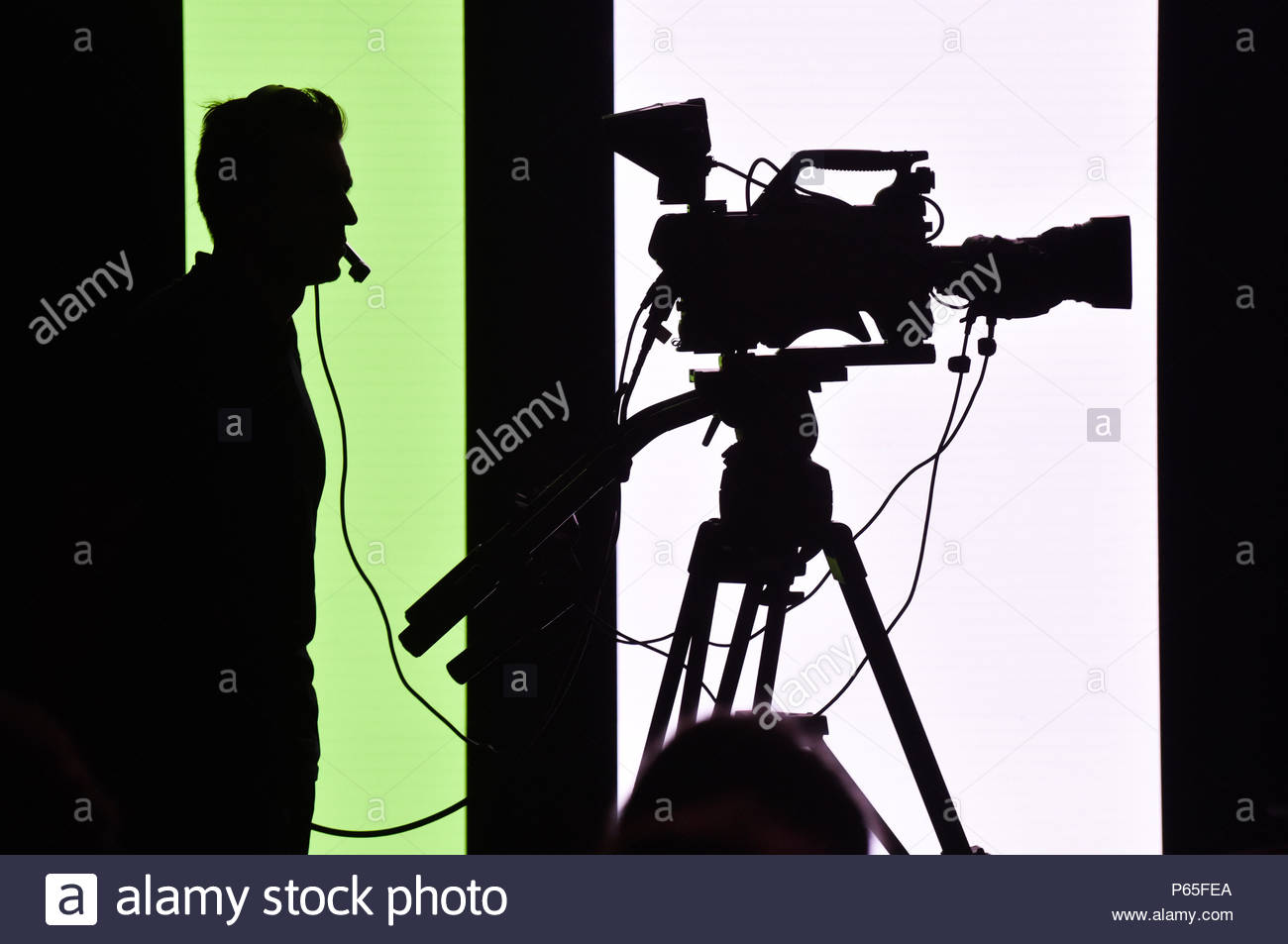 Cameraman at the Club Med (a 'vacation village') of Opio (Provence, south-eastern France) - Stock Image