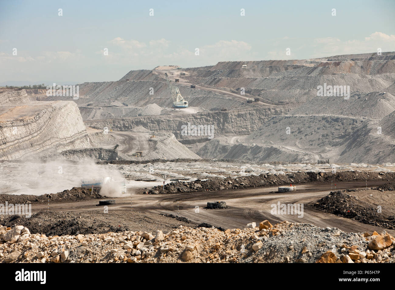 An open cast or drift coal mine in the Hunter Valley, New South Wales. If we are serious about tackling climate change, coal, the dirtiest of fossil f - Stock Image
