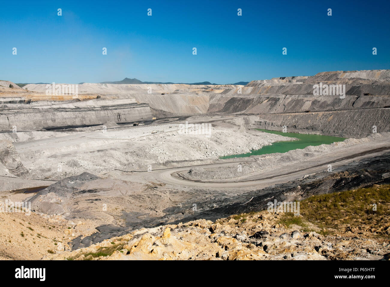An open cast or drift coal mine managed by Xstrata coal in the Hunter Valley, New South Wales. If we are serious about tackling climate change, coal,  - Stock Image