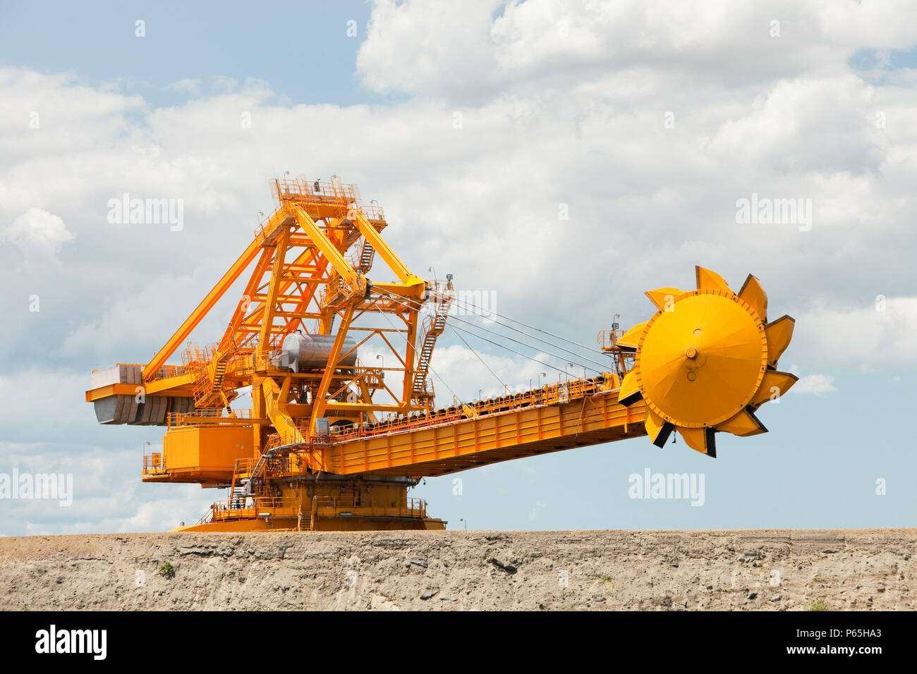 Coal moving machinary at Port Waratah in Newcastle which is the worlds largest coal port. Coal from open cast coal mines in the Hunter Valley is expor - Stock Image